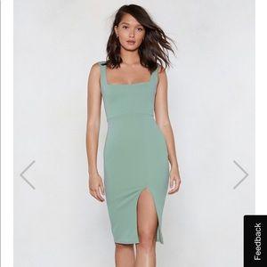 brand new. Nasty Gal slim midi dress in size 0